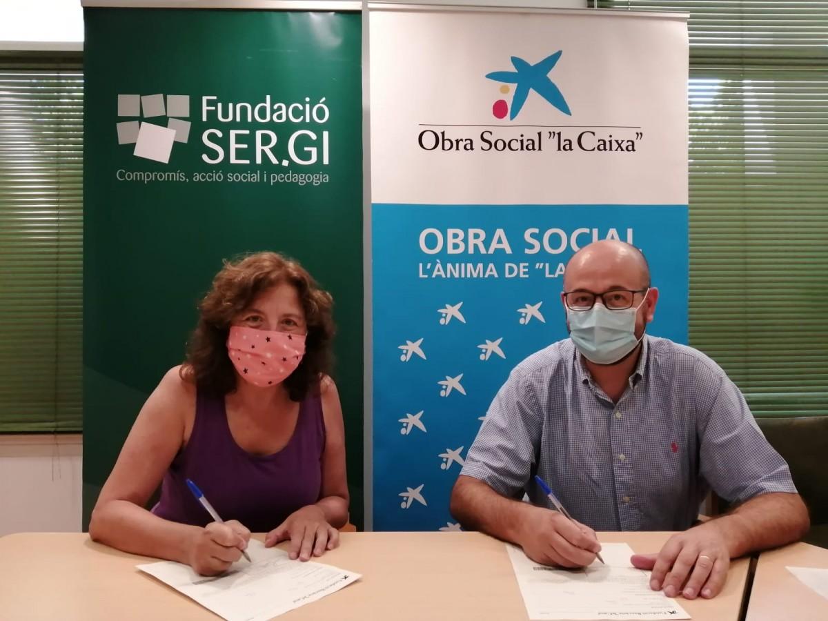 Firma de col·laboració FundacioSERGI i LaCaixa