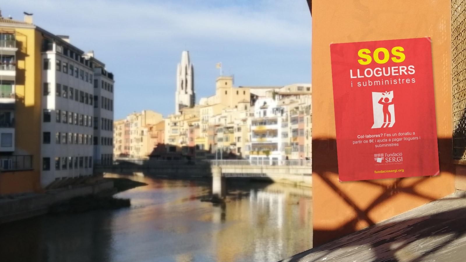 SOS Lloguers i subministres, imatge de campanya a Girona