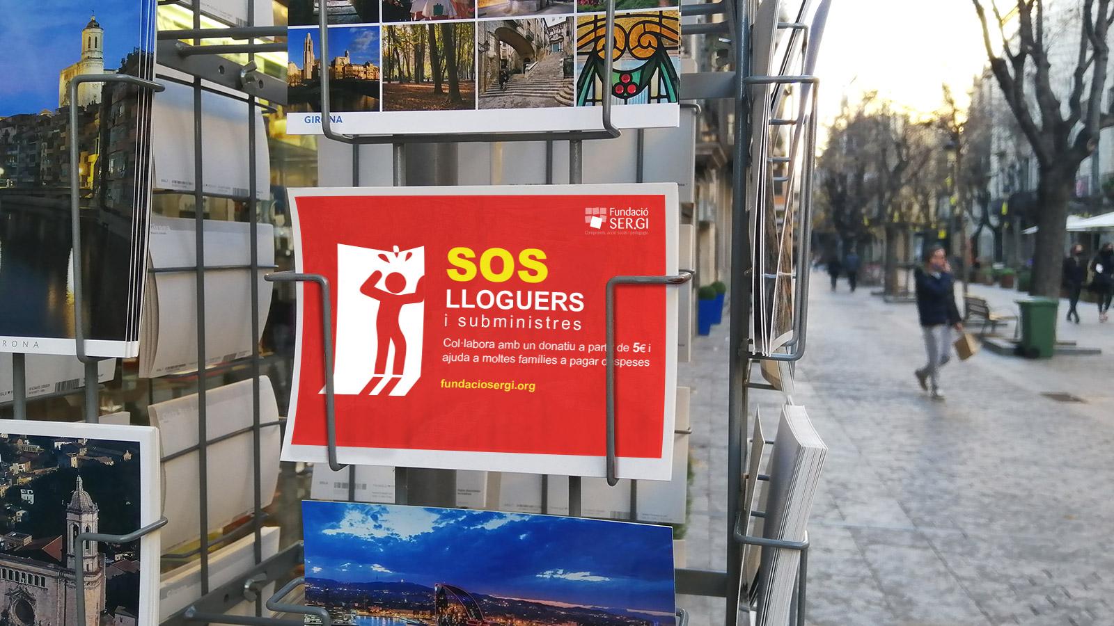 SOS Lloguers i subministres, imatge de campanya