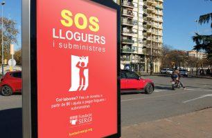 SOS Lloguers i subministres, imatge de campanya captacio de fons