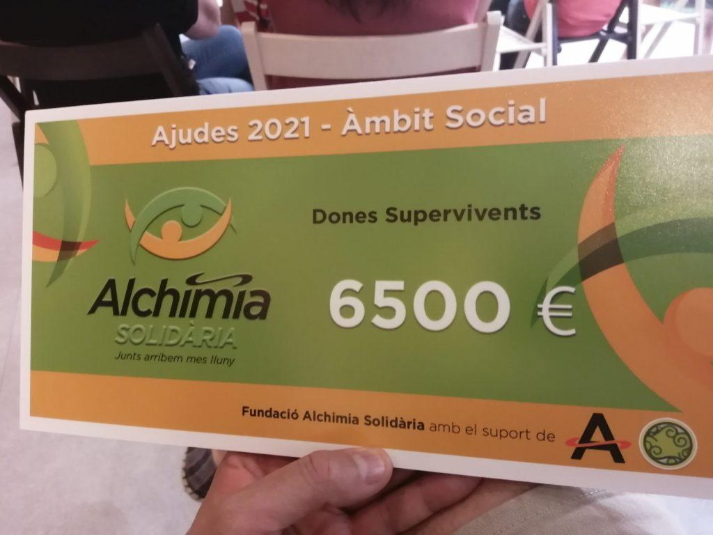 6500€ pel projecte dones supervivents
